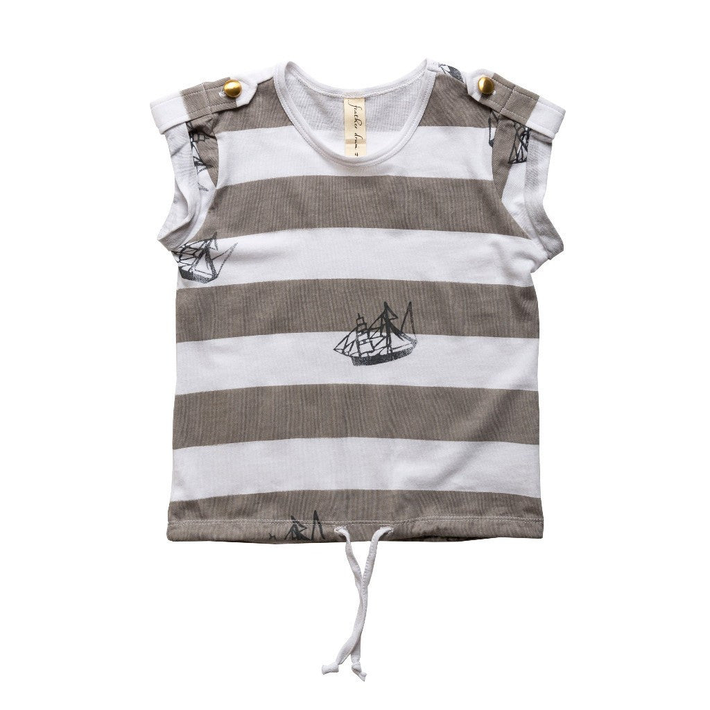 Feather Drum_Shipped Drawcord Tee - The Child Hood
