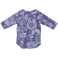 Feather Drum_Long Sleeve Baby Onesie - Flowerfields - The Child Hood