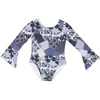Feather Drum_Bell Sleeved Leotard - Blossom Patch - The Child Hood
