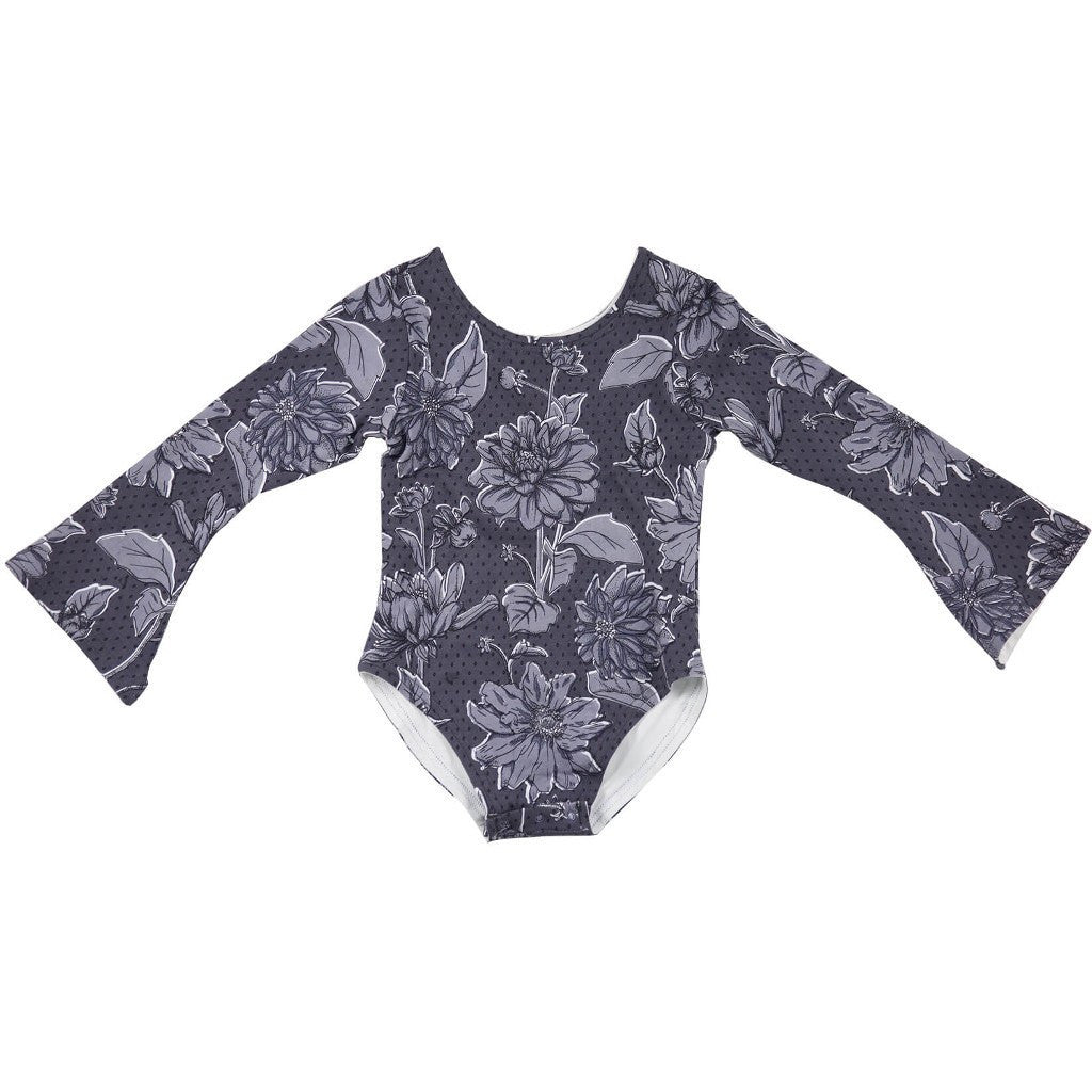Feather Drum_Bell Sleeved Leotard - Flowerfield - The Child Hood