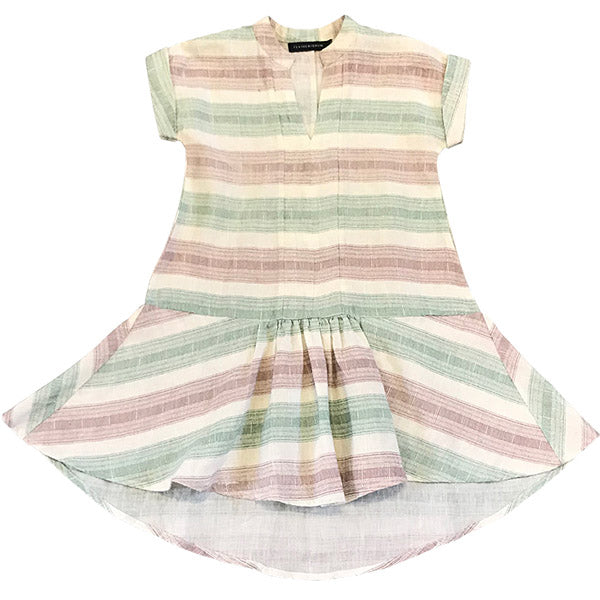 Feather Drum_Bowie Dress - Beach Stripe - The Child Hood