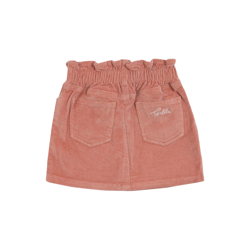 GIA CORDUROY SKIRT - ROSE