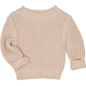 Huxbaby_Chunky Knit Jumper - Biscuit - The Child Hood