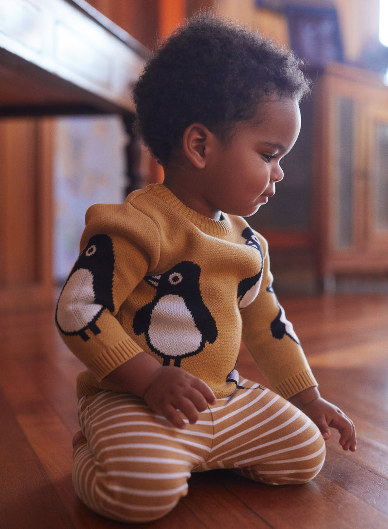 Huxbaby_Penguin Knit Jumper - The Child Hood