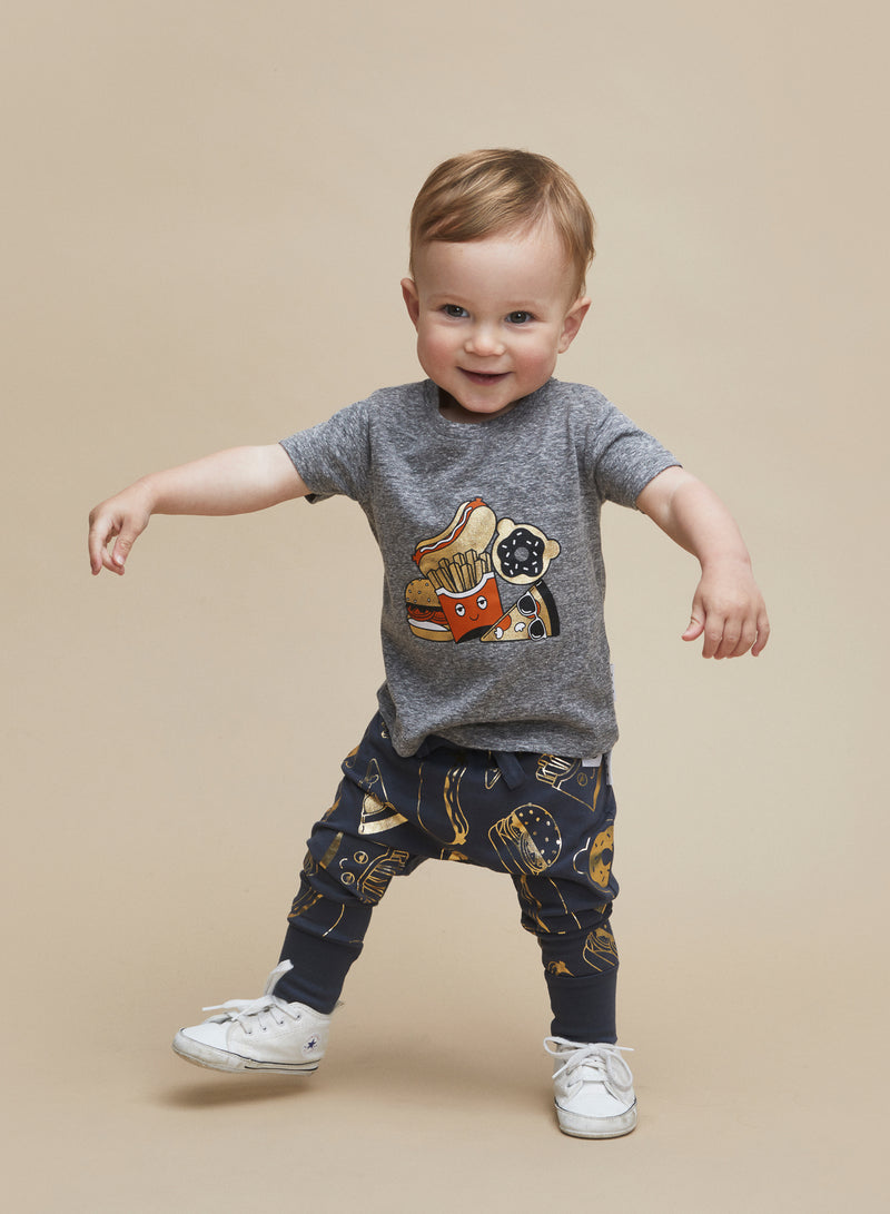 Huxbaby_Gold Food Drop Crotch Pant - The Child Hood
