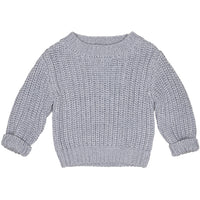Huxbaby_Chunky Knit Jumper - Grey - The Child Hood