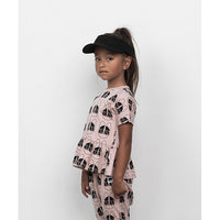 Huxbaby_French Shades Wide Frill Top-Rose Dust - The Child Hood
