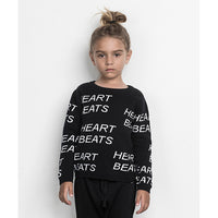 Huxbaby_Heartbeat Knit Jumper - Black - The Child Hood