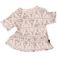 Huxbaby_Heart Pop Wide Frill Top-Rose Dust - The Child Hood