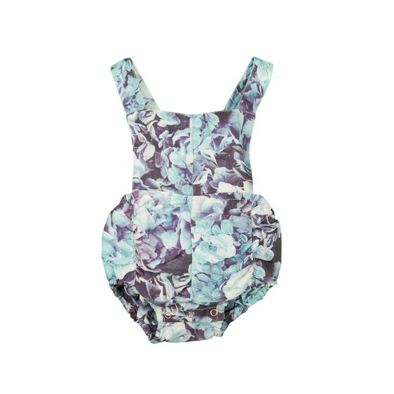 Hubble + Duke_Vintage Romper (No Frill) Hydrangea Print - The Child Hood