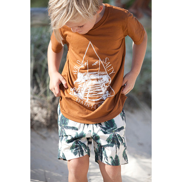 Raised by the Desert_Barefoot/Salty T-Shirt - Mud - The Child Hood