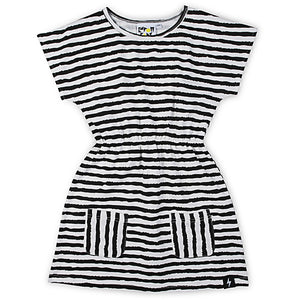 Kapow Kids_Brushed Lines Pocket Dress - The Child Hood