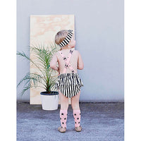 Kapow Kids_Brushed Lines Ruffle Playsuit - The Child Hood