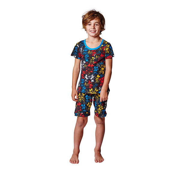 Kip & Co_Disney x Kip & Co Lover Boy Black SS Pyjama Set - The Child Hood