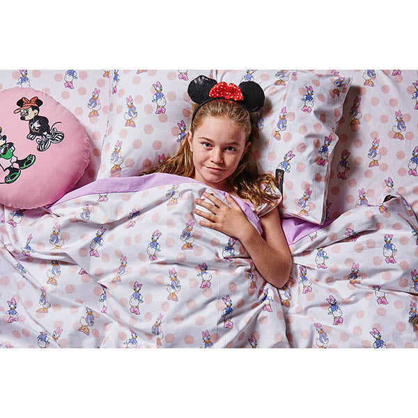 Kip & Co_Disney x Kip & Co Daisy Dot Pink Fitted Sheet - The Child Hood