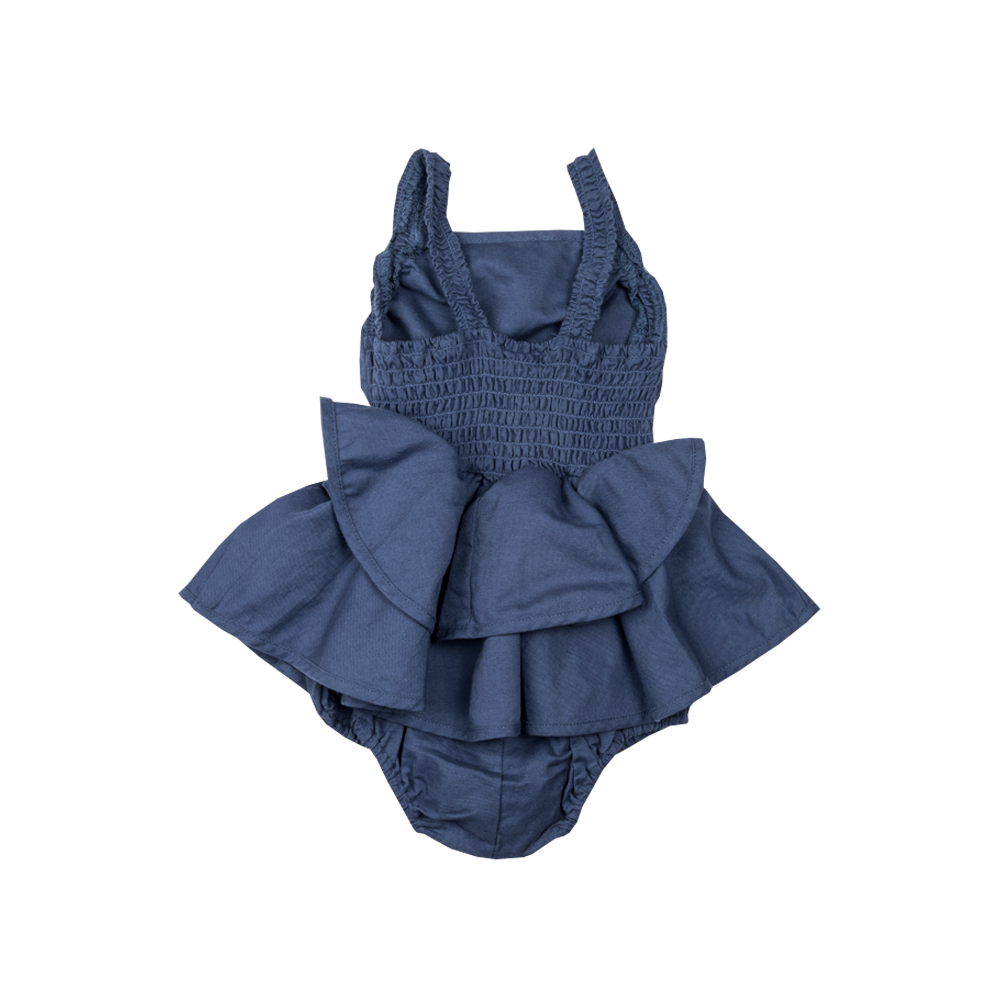 Rock Your Baby_Baby Lana Romper - Blue - The Child Hood