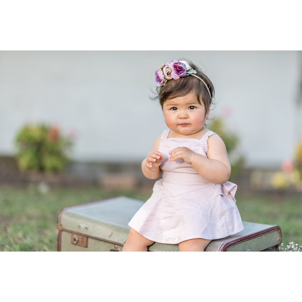 Rock Your Baby_Baby Lana Romper - Dusty Pink - The Child Hood