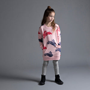 Minti_Bouncing Bunnies Furry Crew Dress - The Child Hood