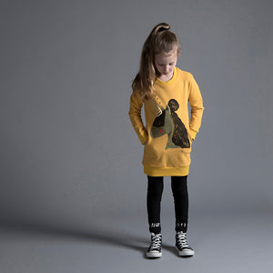 Painted Unicorn Furry Crew Dress