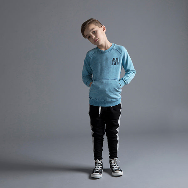 Minti_Blasted Pouch Crew - Sky Blue Wash - The Child Hood
