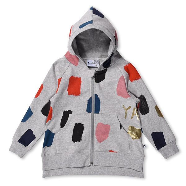 Minti_Colour Pop Furry Zip Up - The Child Hood