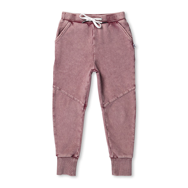 Minti_Blasted Sliced Trackies - Rusty Red Wash - The Child Hood