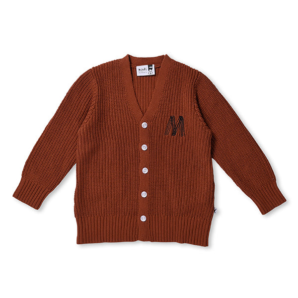 Minti_Chunky Knit Cardy - Burnt Orange - The Child Hood