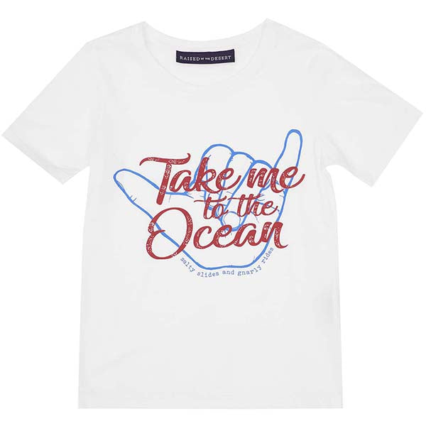 Raised by the Desert_Noah T-Shirt - Ocean Print - The Child Hood