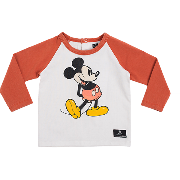 Rock Your Baby_80s Mickey Baby Long Sleeve T-Shirt - The Child Hood