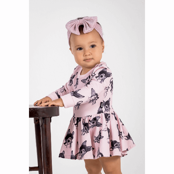 Rock Your Baby_Bambi Love Long Sleeve Baby Waisted Dress - The Child Hood