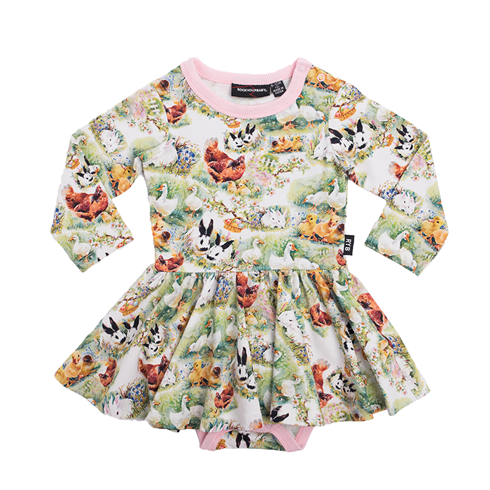 Rock Your Baby_Free Range Baby Waisted Dress - The Child Hood