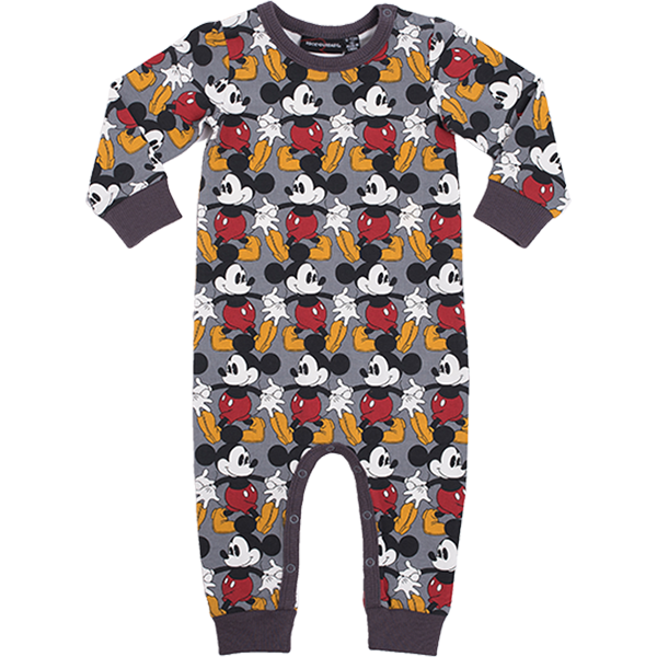 Rock Your Baby_Marching Mickey Baby Long Sleeve Playsuit - The Child Hood