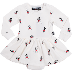 Rock Your Baby_Mickey Long Sleeve Baby Waisted Dress - The Child Hood