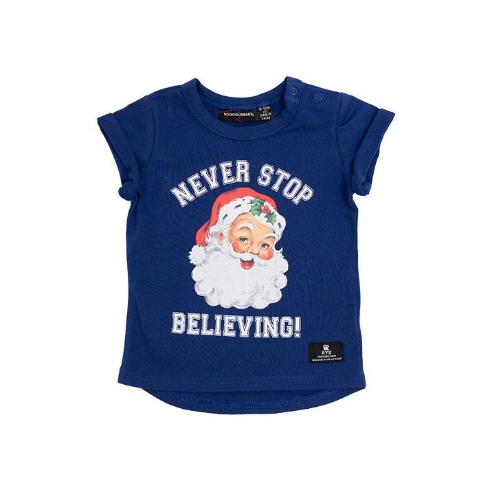 Rock Your Baby_Never Stop Believing Baby SS T-Shirt - The Child Hood