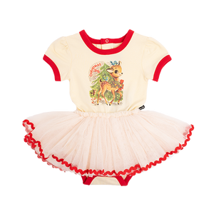 Rock Your Baby_Reindeer Joy SS Baby Circus Dress - The Child Hood