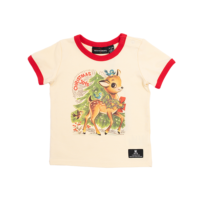 Rock Your Baby_Reindeer Joy Baby SS T-Shirt - The Child Hood