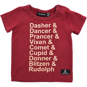 Rock Your Baby_Reindeer List Short Sleeve T-Shirt - The Child Hood