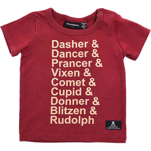 Reindeer List Short Sleeve T-Shirt