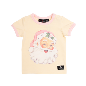 Rock Your Baby_Santa SS Baby T-Shirt - The Child Hood