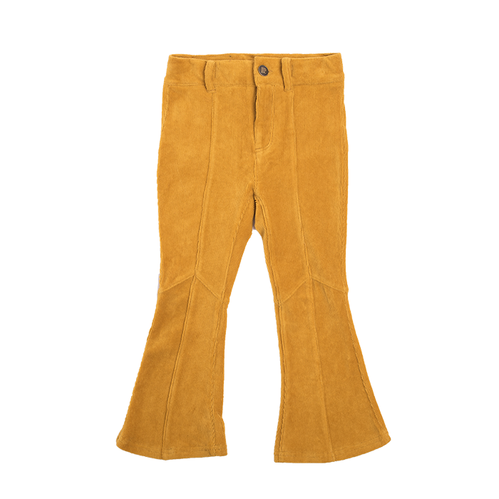 Rock Your Baby_Corduroy Flare Jeans - Mustard - The Child Hood
