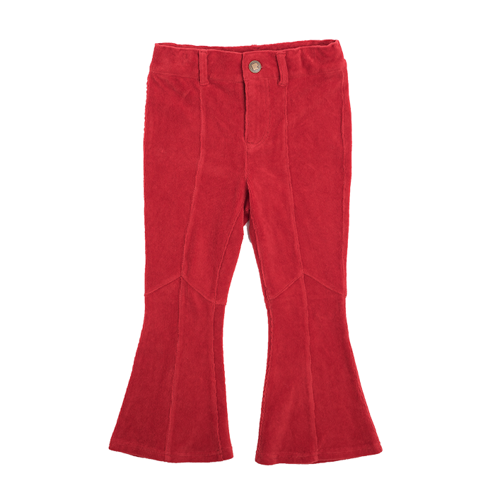 Rock Your Baby_Corduroy Flare Jeans - Red - The Child Hood