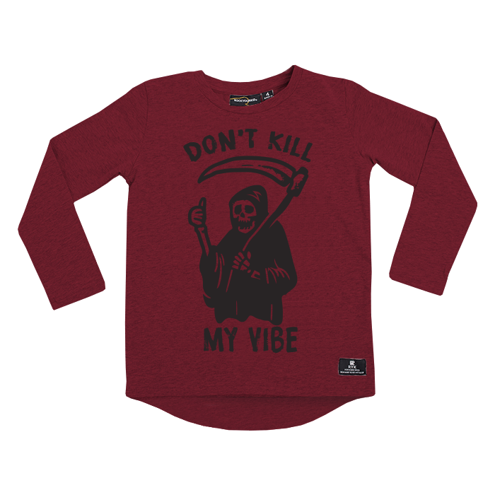 Rock Your Baby_Don't Kill My Vibe Long Sleeve T-Shirt - The Child Hood