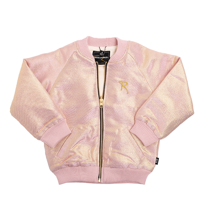 Rock Your Baby_Light Gold/Pink Shimmer Jacket - The Child Hood