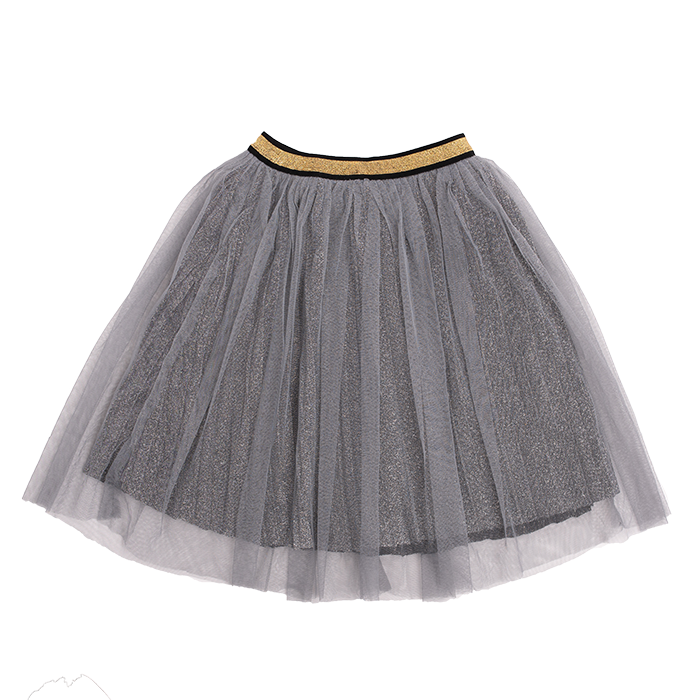 Rock Your Baby_Metallic Silver Shimmer Skirt - The Child Hood