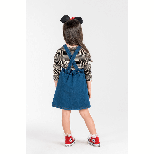 Rock Your Baby_Minnie Mouse Patch Pinafore Dress - The Child Hood
