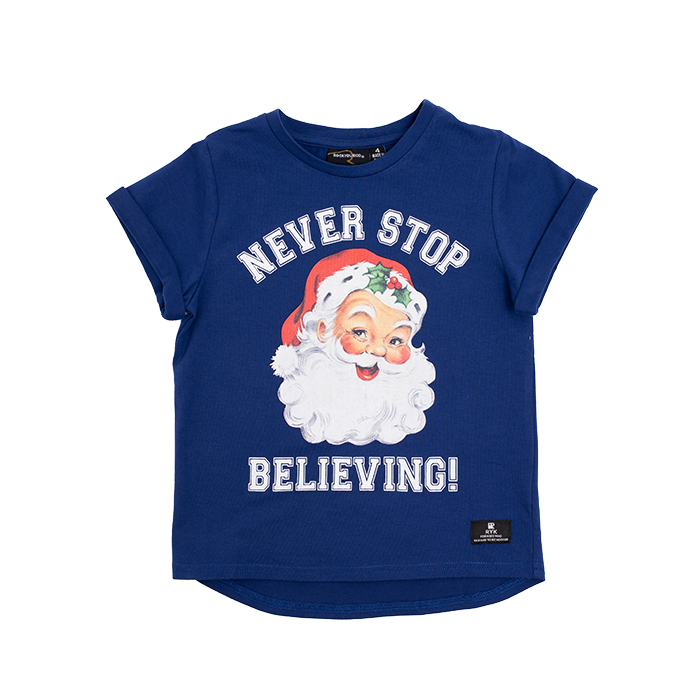 Rock Your Baby_Never Stop Believing SS T-Shirt - The Child Hood