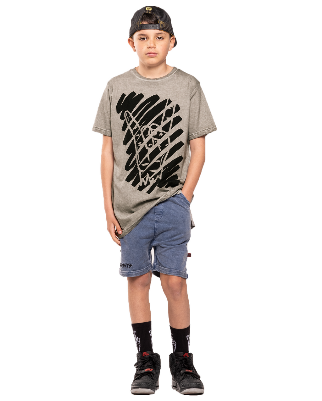 Rock on Step Hem Tee