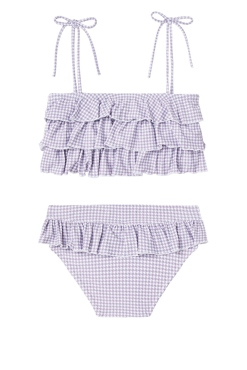 Dot Dot Swim_Lilac Houndstooth Ruffle Two-Piece - The Child Hood