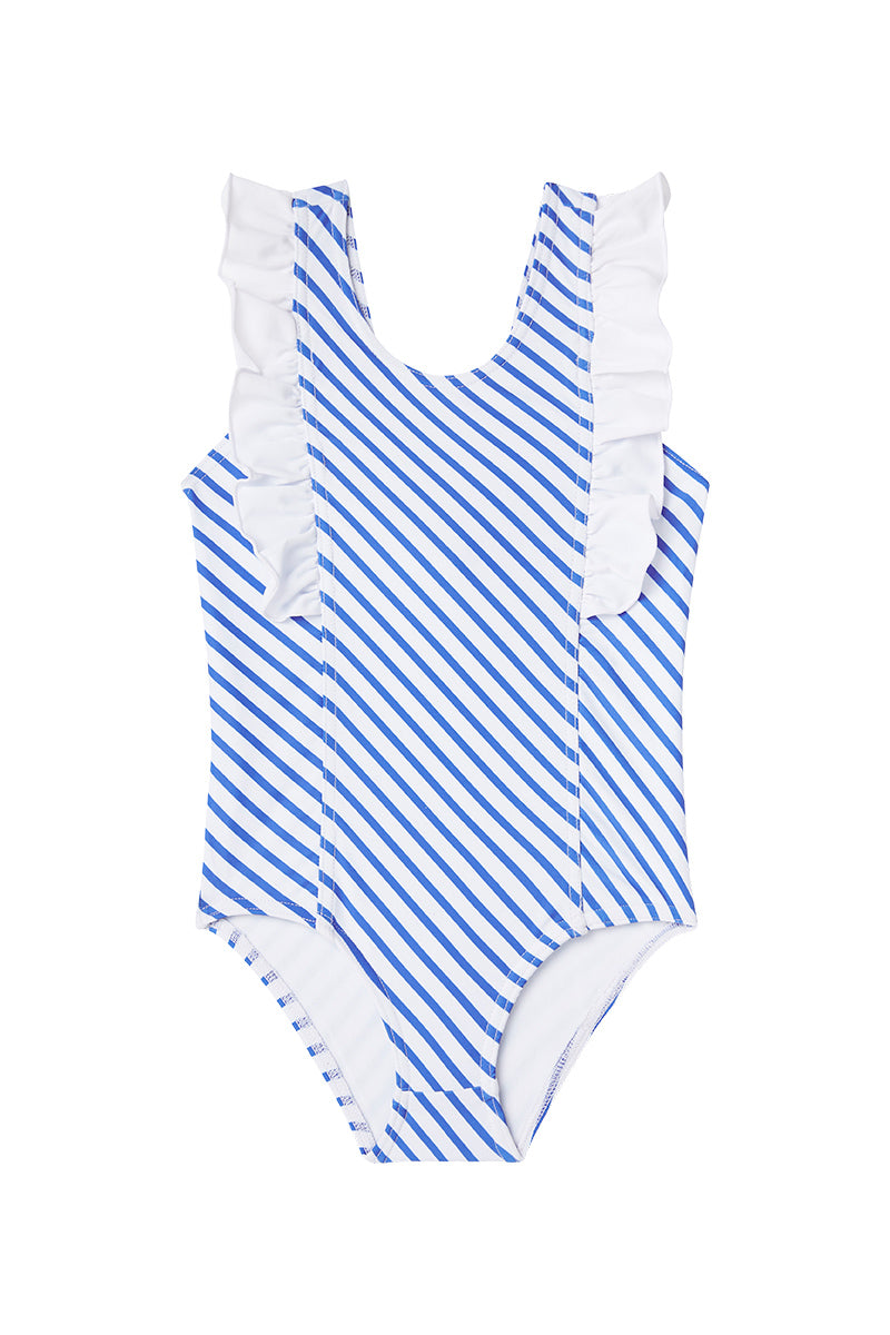 Dot Dot Swim_Ocean Stripe One-Piece Frill - The Child Hood