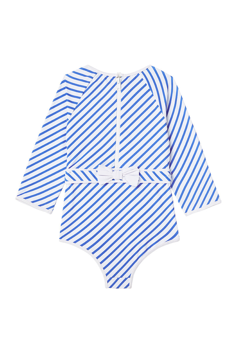 Dot Dot Swim_Ocean Stripe One-Piece Sunsuit - The Child Hood
